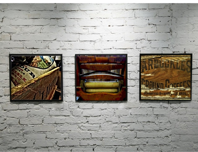 Western photography print set, old west art, modern rustic, western decor,
