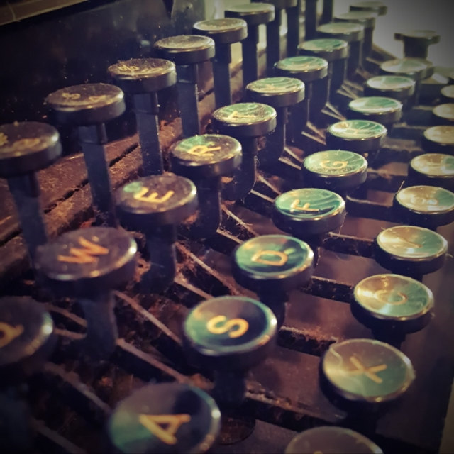 Industrial photography, modern farmhouse, antique typewriter, fixer upper, wall