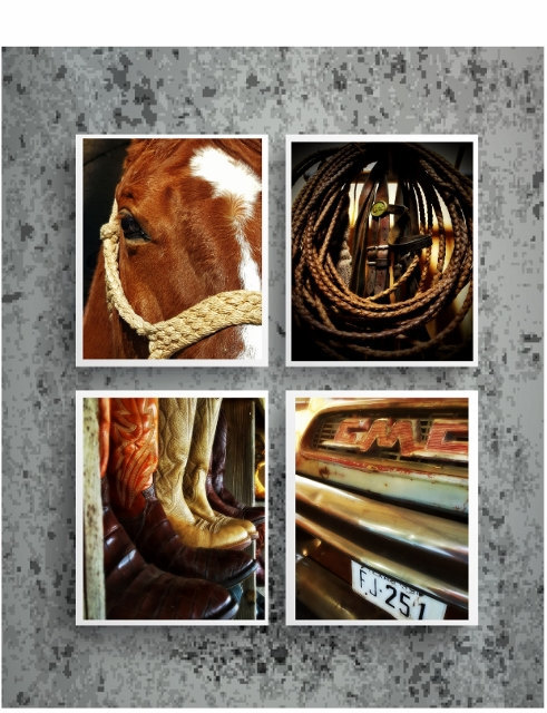 Western photography print set, farm photography, ranch art, modern rustic,