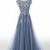 Sexy Tulle Prom Dress, Appliques Long Evening Dress, Formal Dress