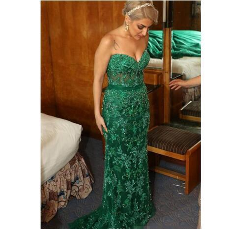 Sexy Sweetheart Neck Mermaid Prom Dress, Appliques Long Evening Dress