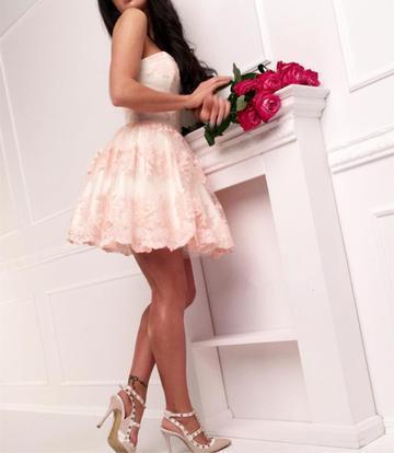 Sexy Mini Prom Dress, Lace Short Prom Gowns,  Mini Cocktail Dress