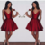 H61 Burgundy Pretty Short/Mini Homecoming dress ,A-Line Homecoming