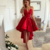 H62 V-Neck High-Low Pretty Short/Mini Homecoming dress ,A-Line Homecoming