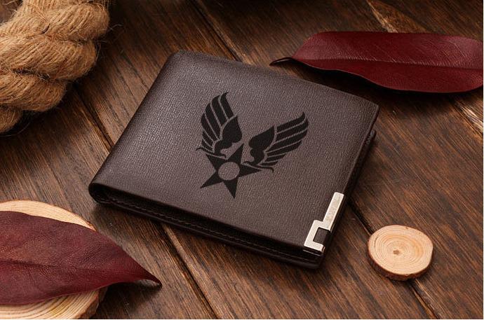 Hap Arnold Symbol Leather Wallet By Goku On Zibbet