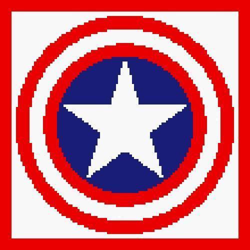 Captain America Shield Crochet Pattern (Graph, SC, C2C, Tunisian, Bobble stitch)