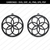 Flower Earrings svg,Floral earrings svg,Jewelry svg,leather