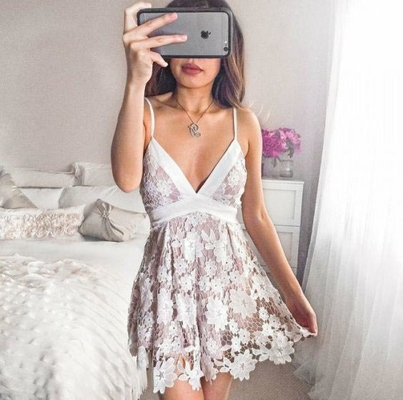 Spaghetti Straps A-Line Lace Homecoming Dresses,Short Prom Dresses,Cheap