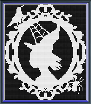 Framed Witch Throw