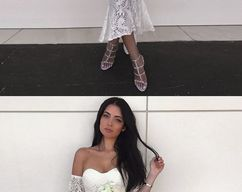 6785636d7e Mermaid Sweetheart Short Sleeves White Bridesmaid Dress with Lace