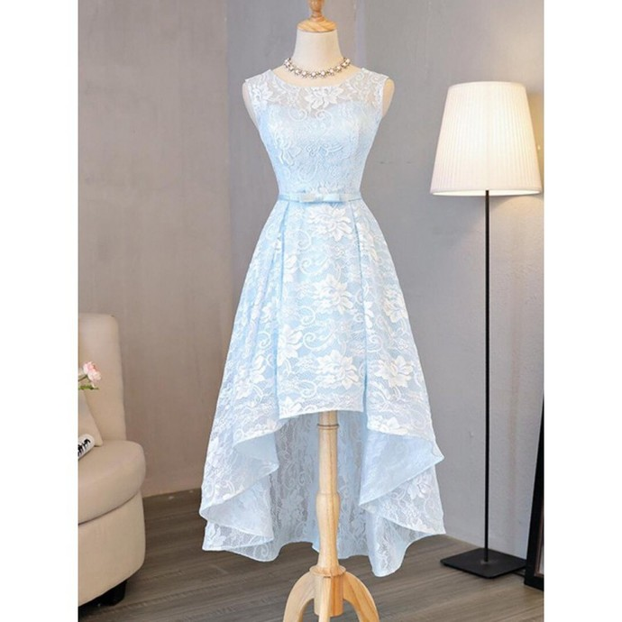 H67 Light Sky Lace Pretty Short/Mini Homecoming dress ,Homecoming