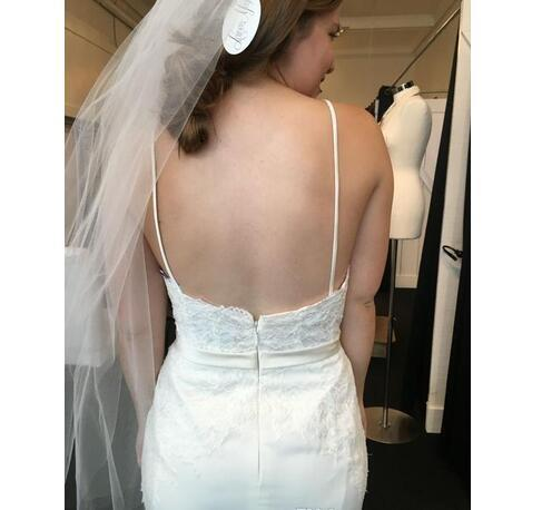 Charming Spaghetti Straps Backless Lace Mermaid Wedding Dresses