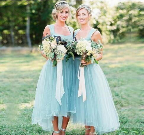 Charming Tulle Bridesmaid Dress, Elegant Long Bridesmaid Dresses