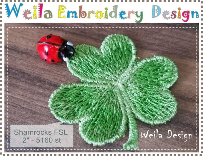 Shamrock 2 Fsl Free Standing Lace By Weilaembroiderydesign On