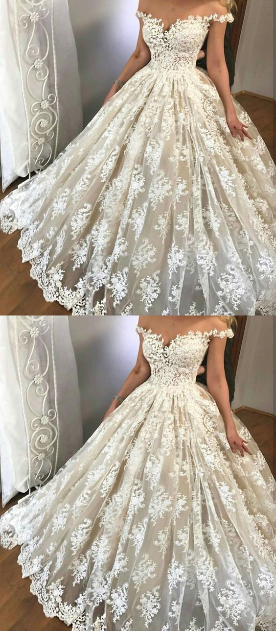 off the shoulder wedding dresses, glamorous wedding by Hiprom on