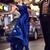 Blue Evening Dress,Ruffle Evening Dress,Exquisite Evening Dress,Floor Length