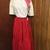 80's Does 50's Circle Skirt Red Black Polka Dot