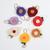 Felt Flower on Nylon Headband - Mustard Yellow with Cream Center