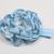 Infant Headband//0-6 Month//Foldover Elastic Headband - Dusty Blue Satin Flower