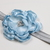 Infant Headband//0-6 Month//Foldover Elastic Headband - Dusty Blue Satin Flower