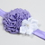Infant Headband//0-6 Month//Foldover Elastic Headband - Deep Lavender and White