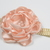 Infant Headband/6-24 Month/Foldover Elastic Headband - Pale Peach Satin Flower