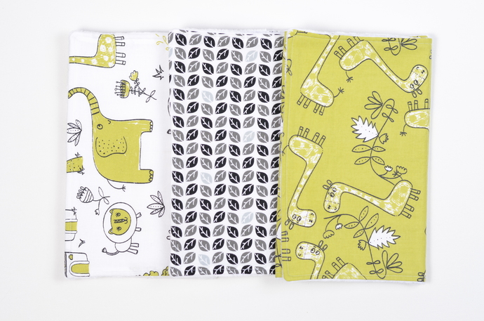 Burp Clothe Bundle//Set of 3 - Safari