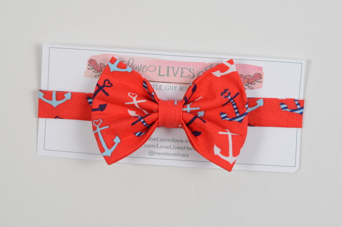 Little Guy Bow Tie - Anchors Away