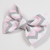 Large Cotton Bow Clip//Clip on Bow Tie - Pink and Gray Chevron