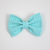 Large Cotton Bow Clip//Clip on Bow Tie - Teal Flower