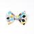 Large Cotton Bow Clip//Clip on Bow Tie - Mod Dots