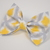 Large Cotton Bow Clip//Clip on Bow Tie - Yellow Argyle