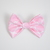 Large Cotton Bow Clip//Clip on Bow Tie - Pink Lattice