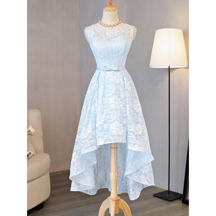 H67 Light Sky Lace Pretty Short/Mini Homecoming dress ,Homecoming