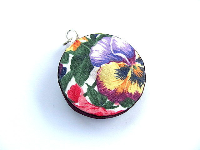 Tape Measure with Pansy Flowers Retractable Measuring Tape