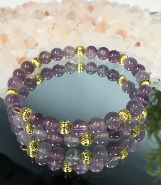'Feminine Charm'  Amethyst Bracelet