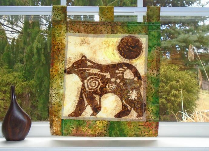 SALE - Spirit Animal - Cabin Decor - by windowART curtains on Zibbet