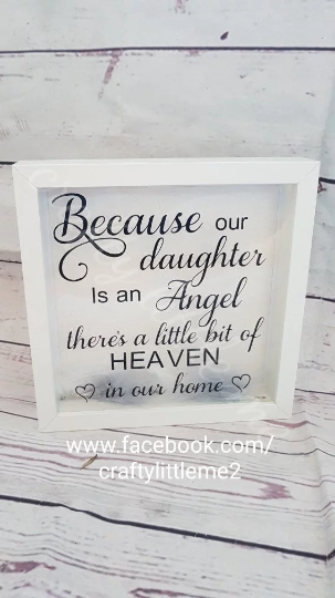 memorial frame, for my angel in heaven\', by crafty little me on