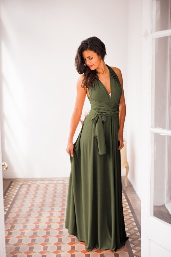 Hot Sell Olive Green Long Prom Dress By Prom Dresses On Zibbet