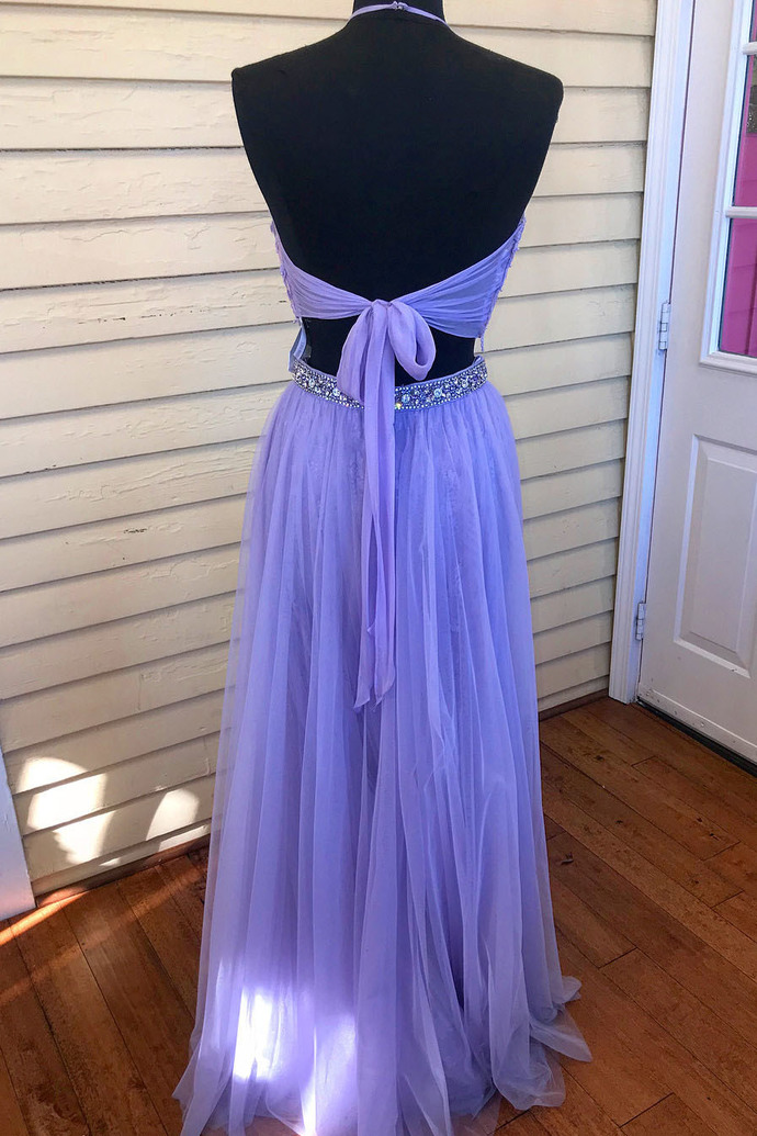 New Arrival Halter A-Line  Prom Dresses,Long Prom Dresses,Cheap Prom Dresses,