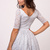 A-Line V-Neck Half Sleeves Short Pink Lace Homecoming Dress