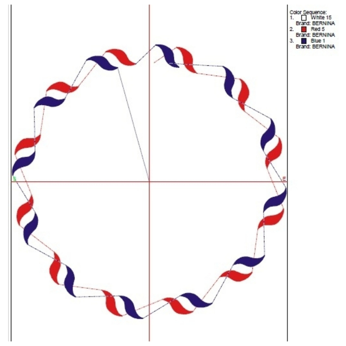 July 4th Circle monogram frame embroidery machine design Patriotic usa designs