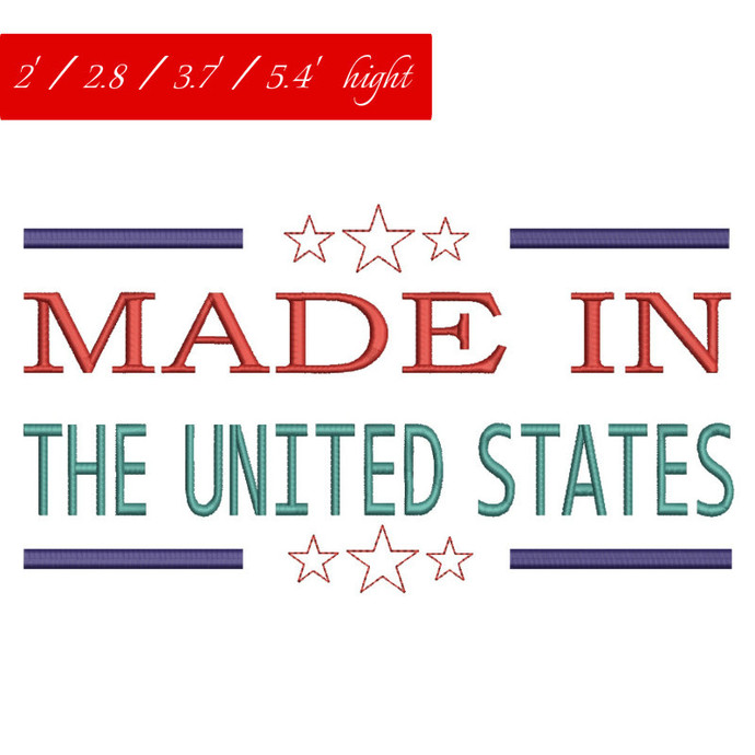 Made in usa embroidery design The United States machine designs american digital