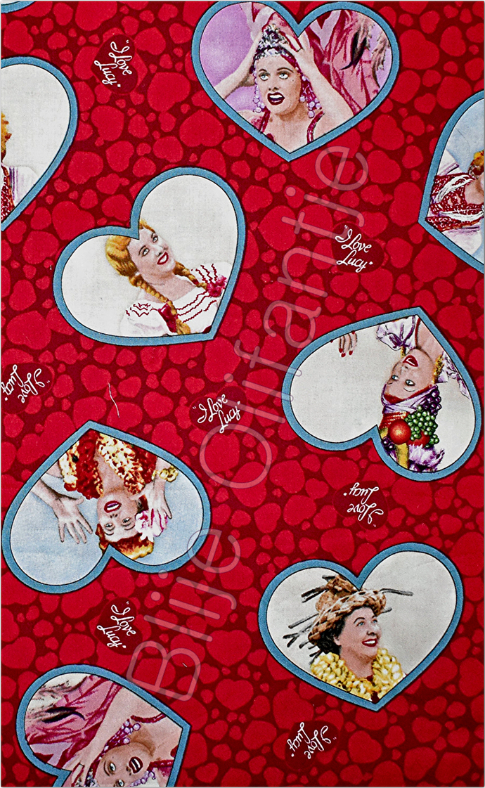 YARD Quilting Treasures I Love Lucy Escapades Red Heart
