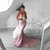 Simple Red/ Pink Mermaid Prom Dress, Sweetheart Backless Sweep Train Prom Dress