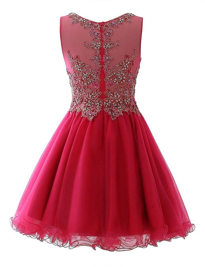 H69 Real Made Beading Pretty Short/Mini Homecoming dress ,Homecoming