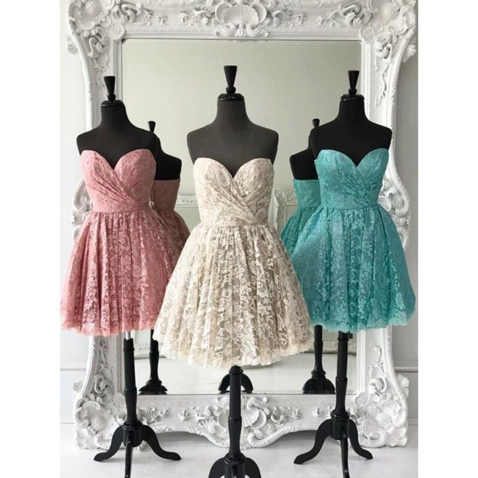 H70 Real Made Lace Pretty Short/Mini Homecoming dress ,Homecoming