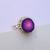 Purple Druzy Ring, Purple Druzy Silver Ring, Purple Druzy Ring Jewelry, 925
