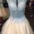 High neck See-through Beaded Bodice Backless Homecoming Dresses with Cap