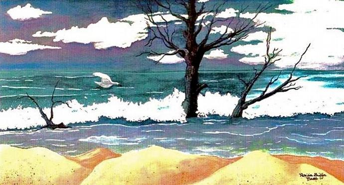 Lost Swan- watercolor painting- fine art print